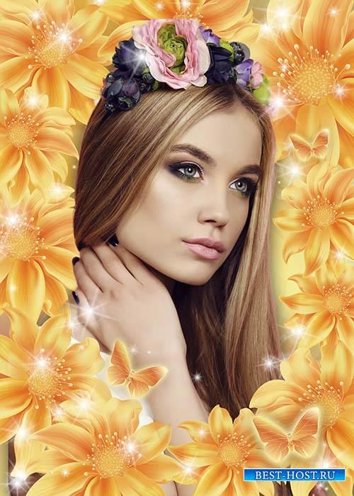 Рамка для фото Волшебные цветы