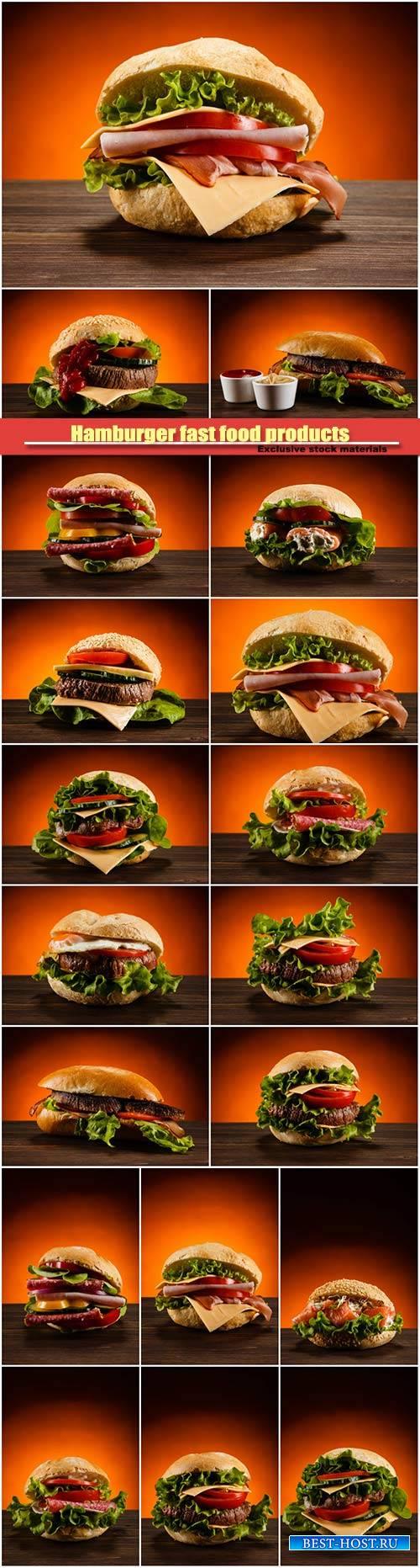 Hamburger fast food products