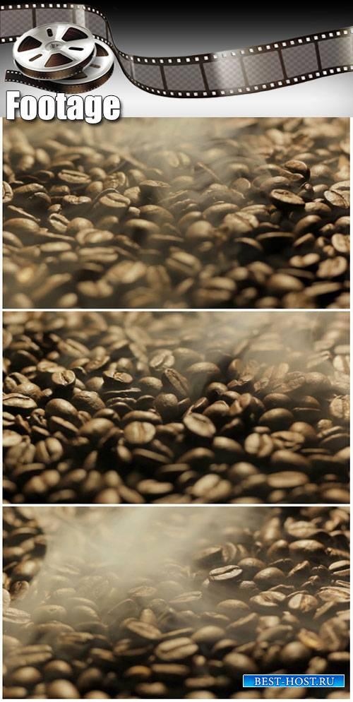 Video footage Roasting coffee beans