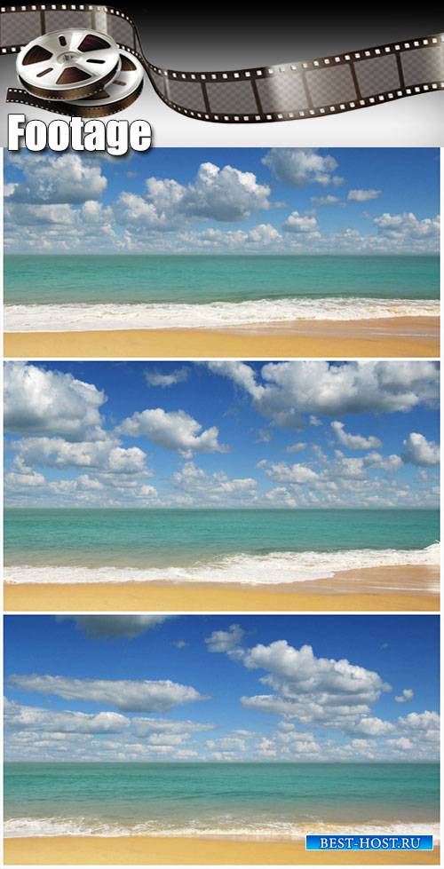 Video footage beautiful beach landscape with timelapse clouds in India