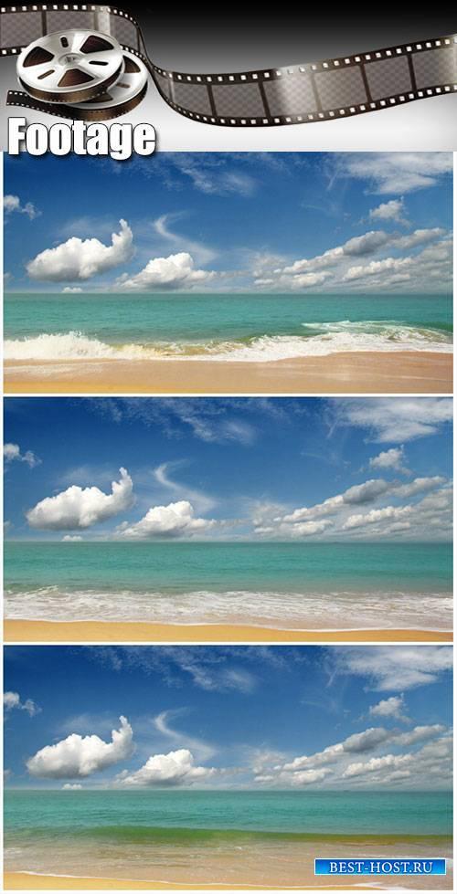 Video footage beautiful beach landscape in India