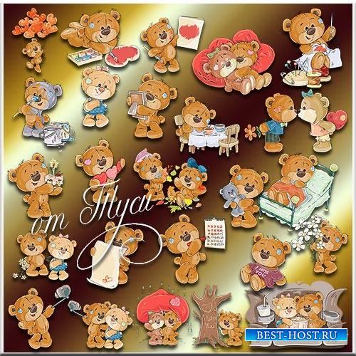 Детский клипарт - Мишки Тедди. 1 часть