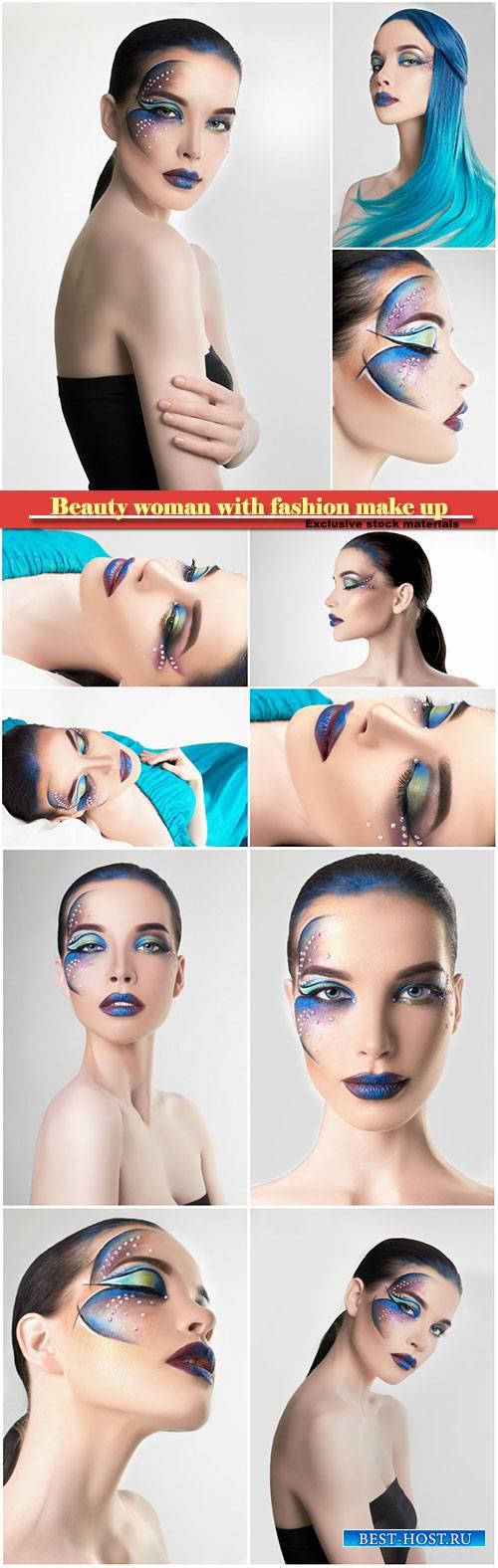 Beauty woman with fashion make up