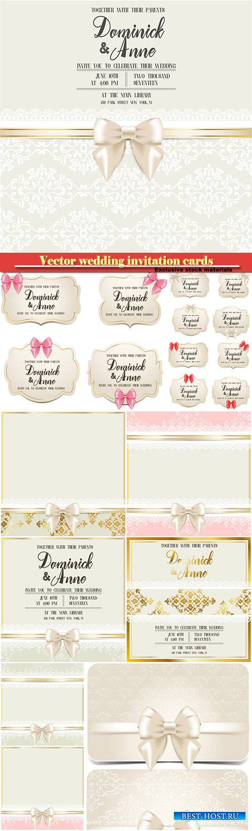 Wedding cards and invitation cards in vector