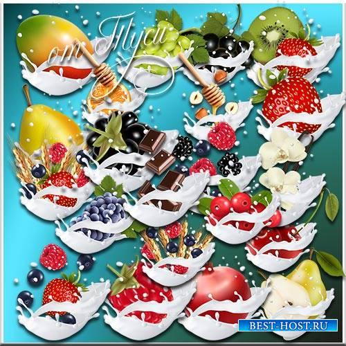 Десерт в сливках - Клипарт