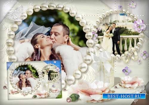 Рамка для фотошопа - Прекрасная семья родилась в этот час