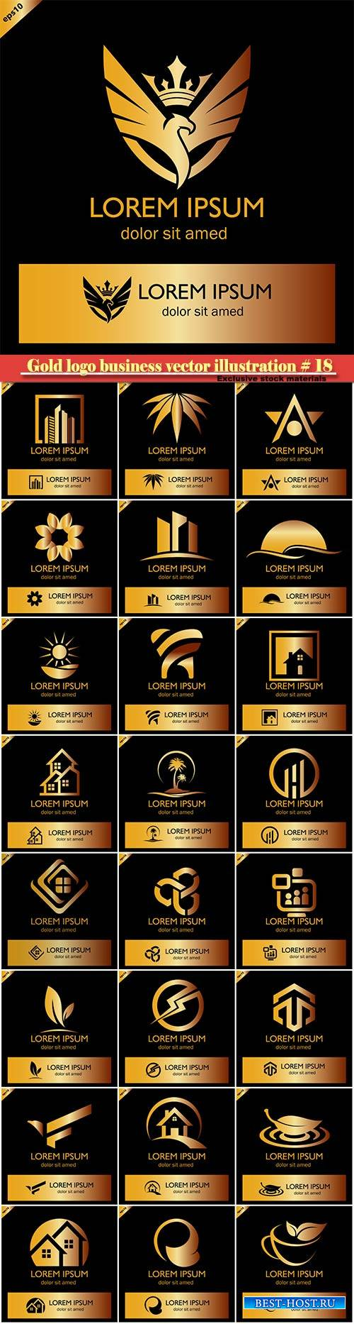 Gold logo business vector illustration # 18