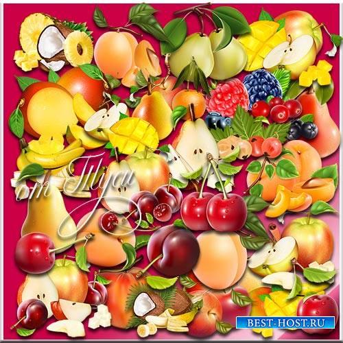 Сочные фрукты - Клипарт