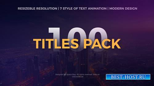 Пакет Titles - Project for After Effects (Videohive)