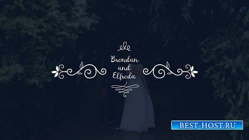 Свадебные титры - Шаблоны After Effects