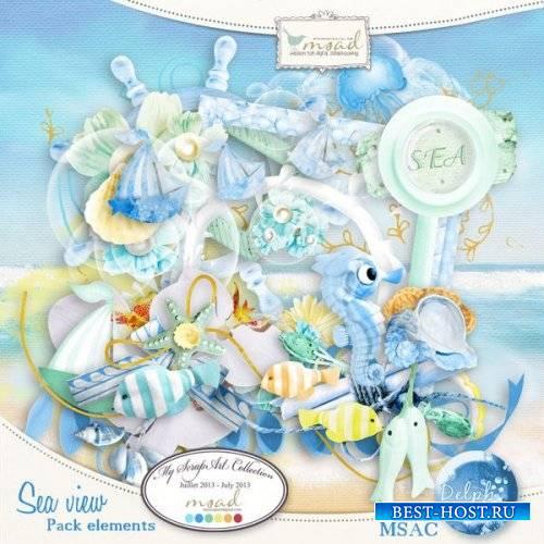 Морской скрап-набор - Вид на море