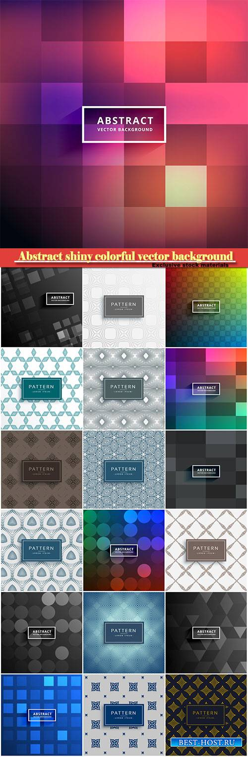 Abstract shiny colorful vector tiles background
