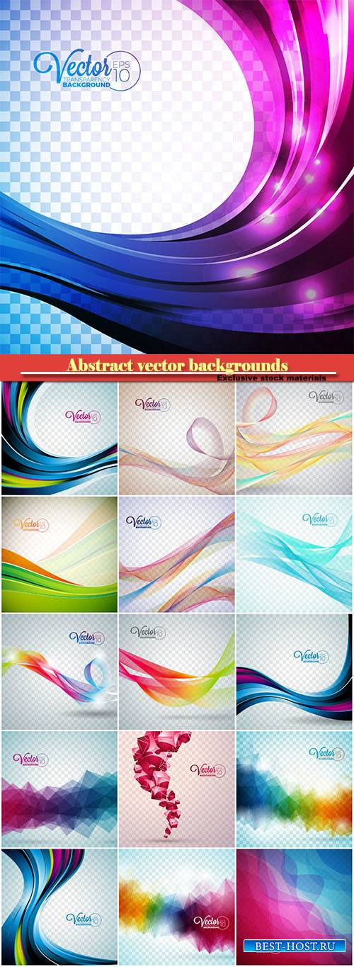 Abstract vector backgrounds, glowing lines