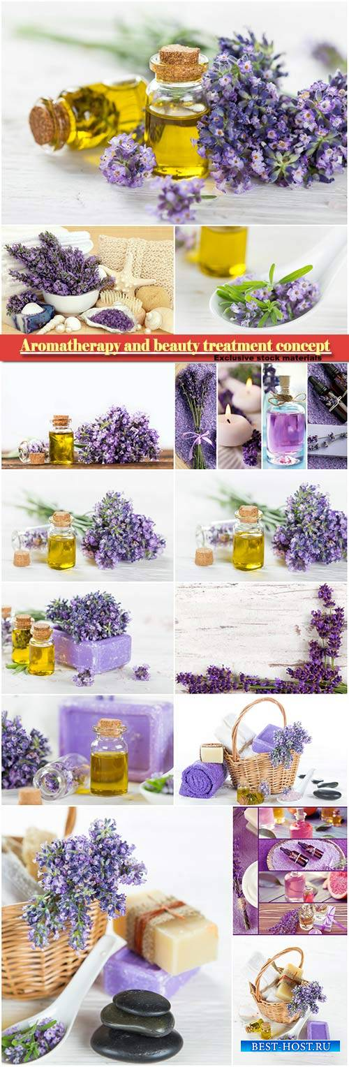 Aromatherapy and beauty treatment concept, lavender beauty treatment