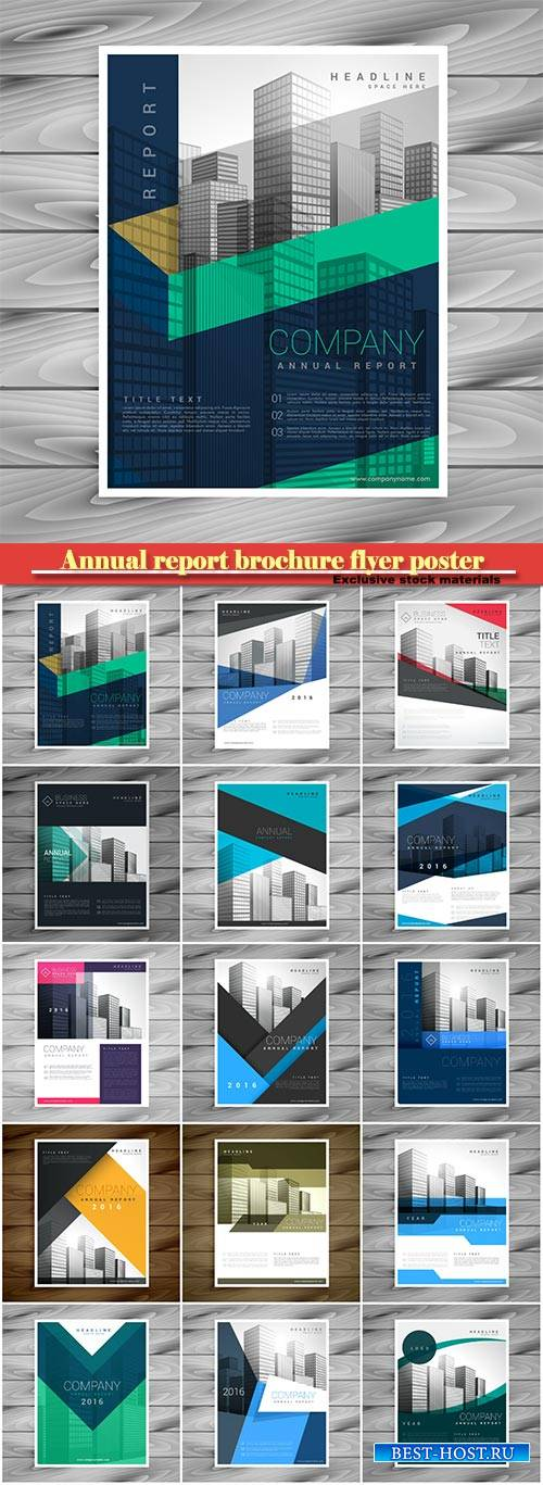 Annual report brochure flyer poster design template vector