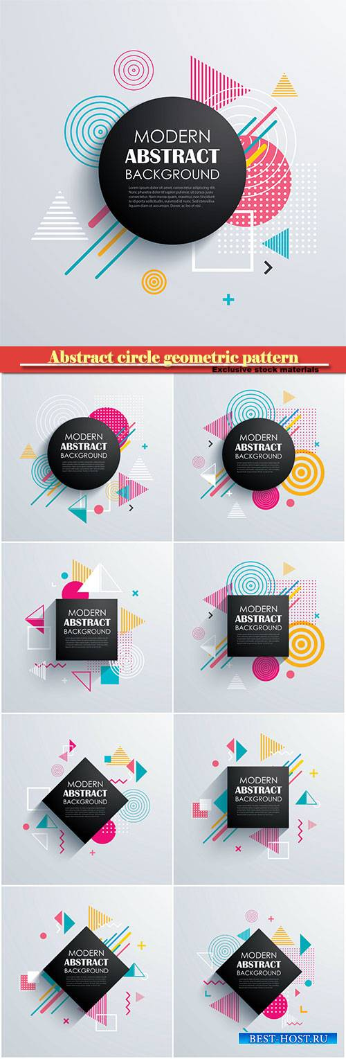 Abstract circle geometric pattern design and vector background