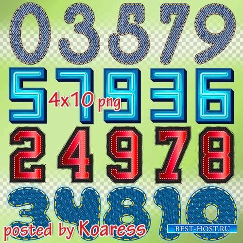Png клипарт на прозрачном фоне - Декоративные цифры, часть 3