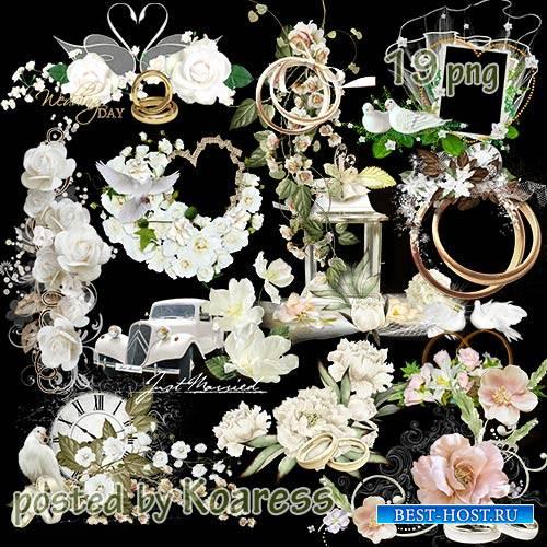 Свадебные кластеры - клипарт png