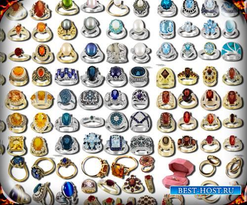 Клипарты на прозрачном фоне - Кольца золотые и серебряные