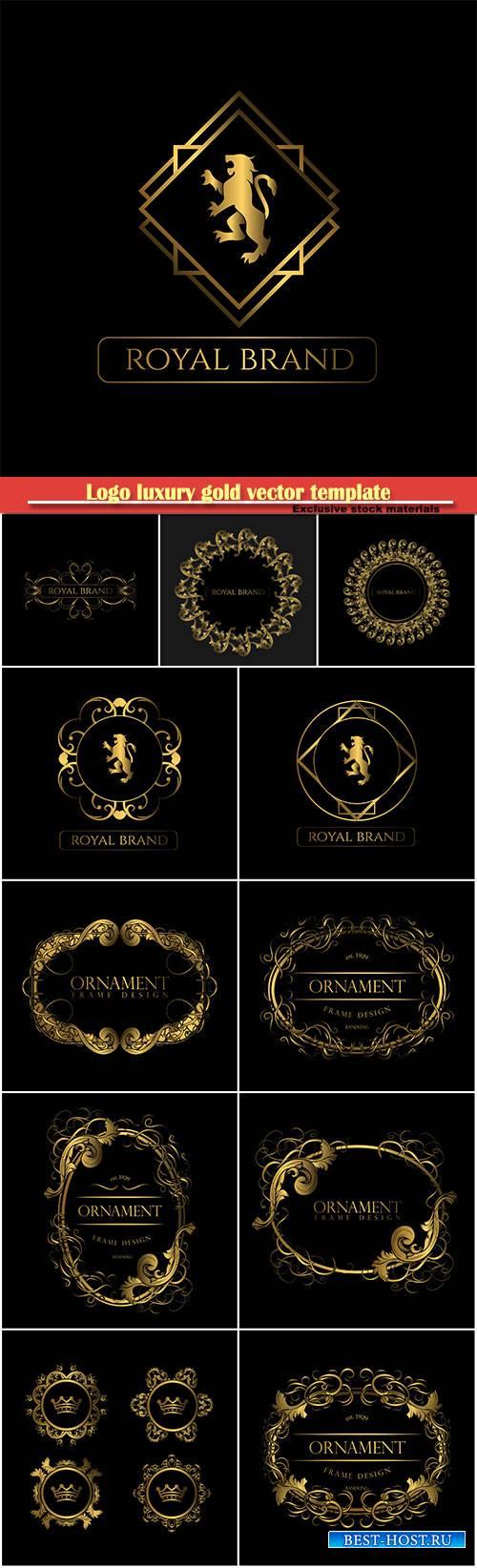 Logo luxury gold vector template