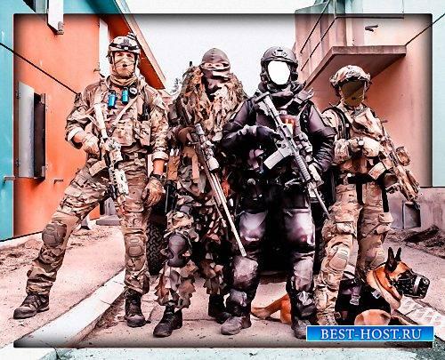 Шаблон для фотошопа - В группе спецназа