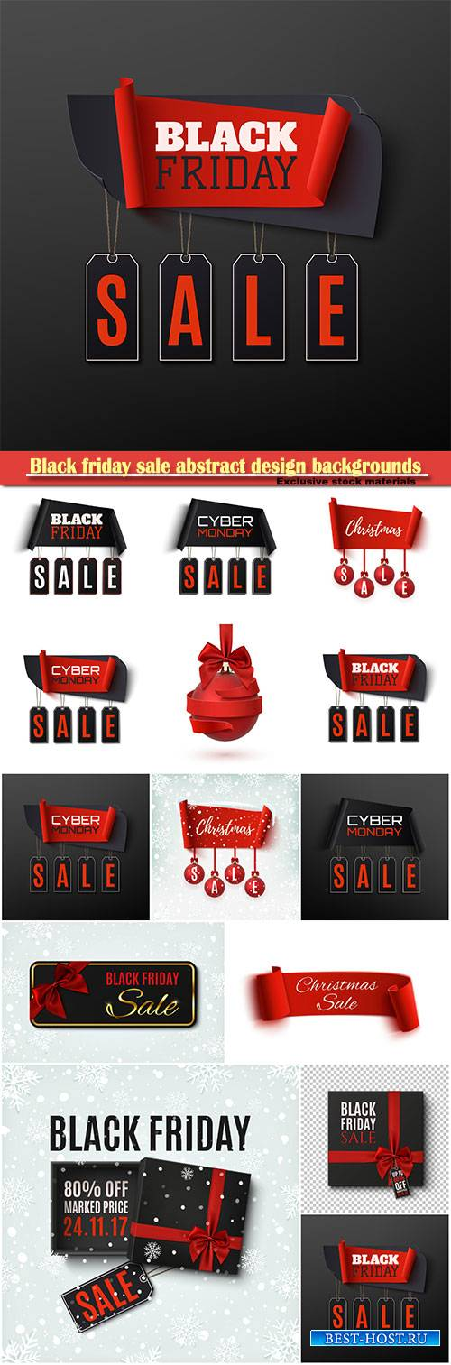 Black friday sale abstract design backgrounds, Christmas sale banner with c ...