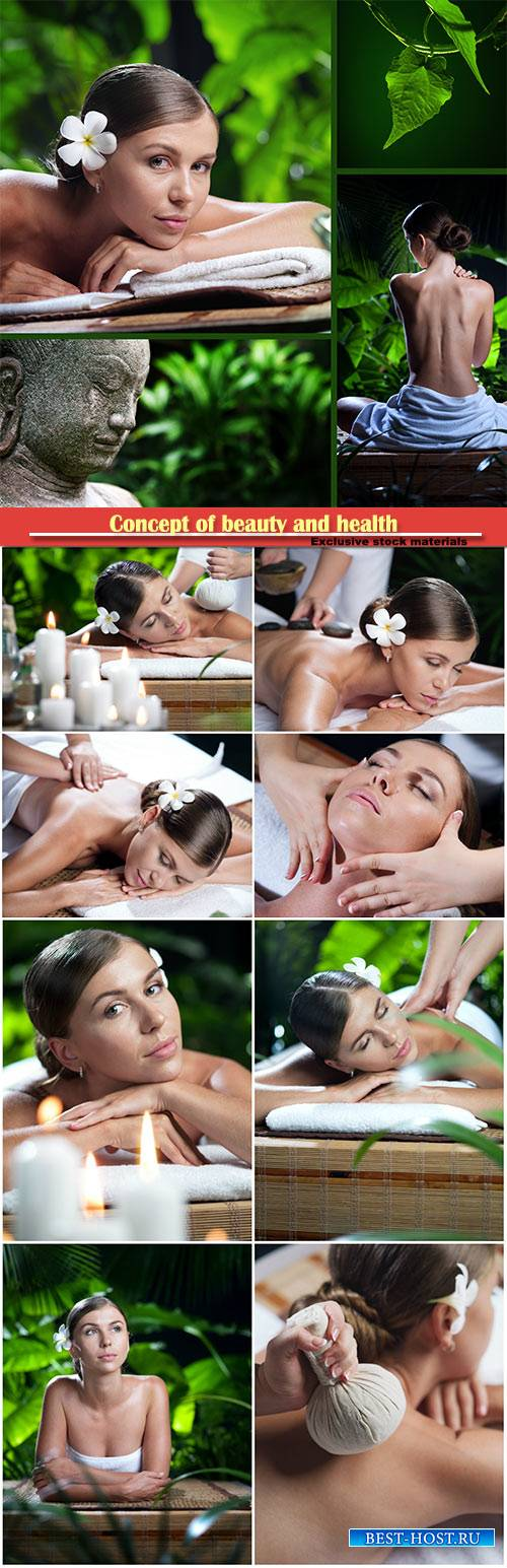 Concept of beauty and health, spa procedures, woman on massage