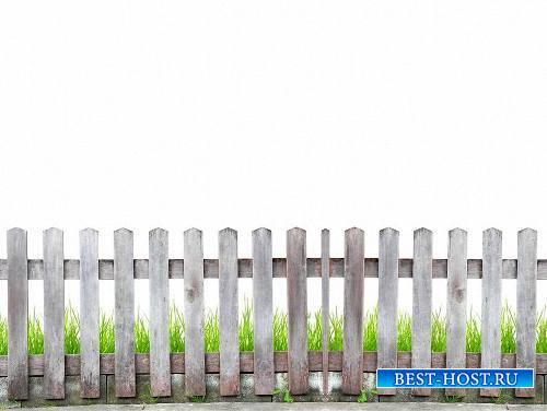 Качественные png на прозрачном фоне - Деревянные заборы