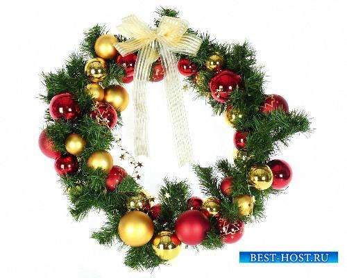 Необходимый набор клипартов на прозрачном фоне - Рождественские венки