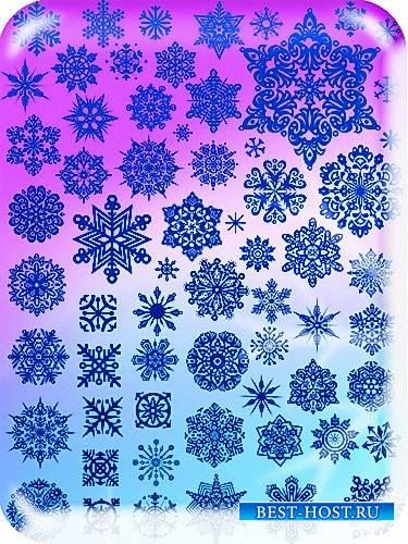 Png для фотошопа на прозрачном фоне - Новогодние снежинки