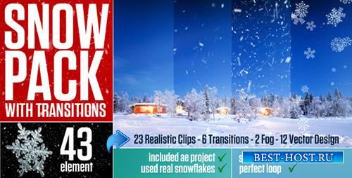 Снегопад с переходом - Motion Graphics & ae (Videohive)