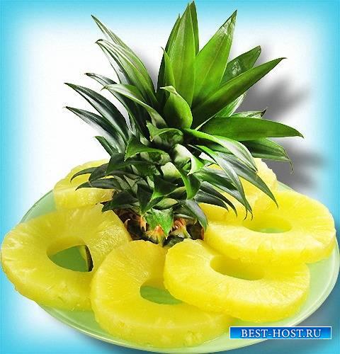Клипарт прозрачный - Сочные ананасы
