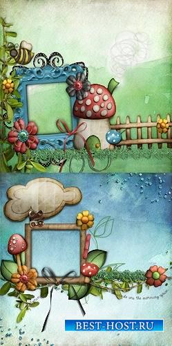 Рамка для фото - В грибах