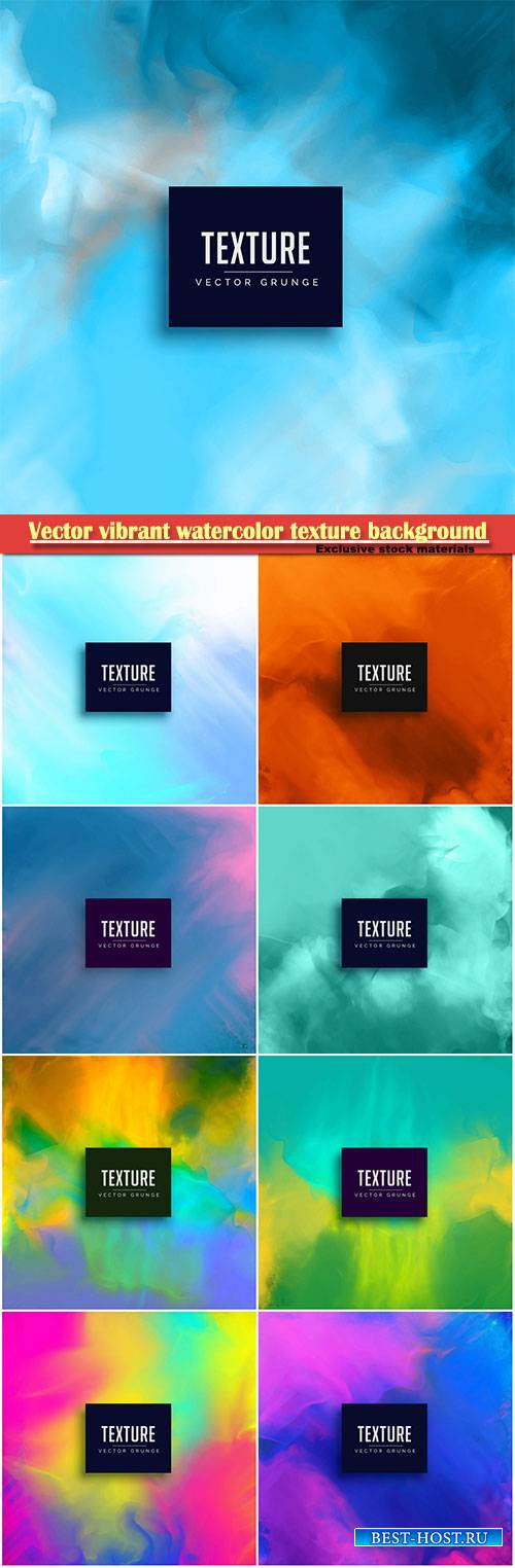 Vector vibrant watercolor texture background