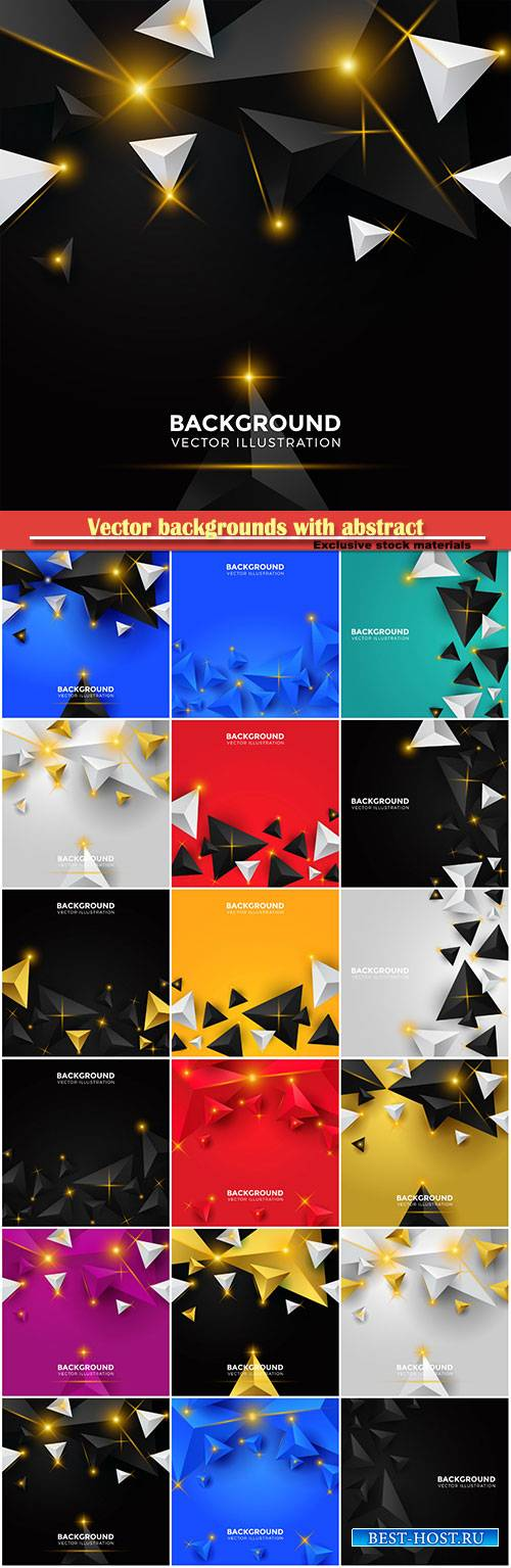 Vector backgrounds with abstract glowing elements