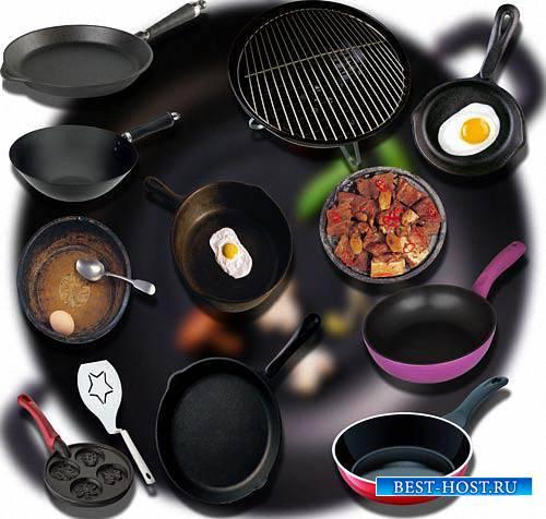 Клипарты png - Тефалевские сковородки
