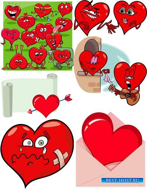 Вектор - Влюблённые сердца / Vector - Loving hearts