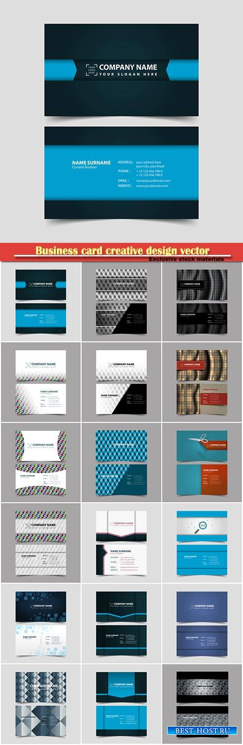 Business card creative design vector illustration