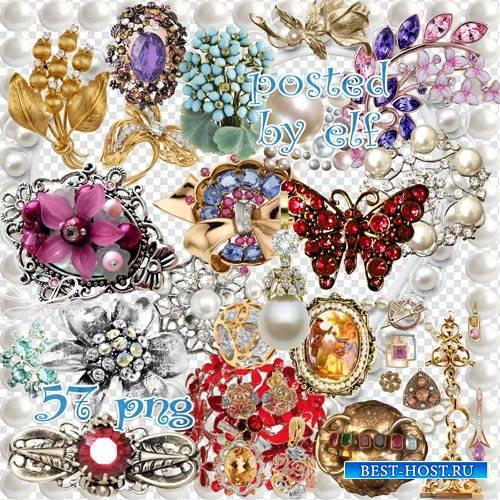 Ювелирные изделия на прозрачном фоне
