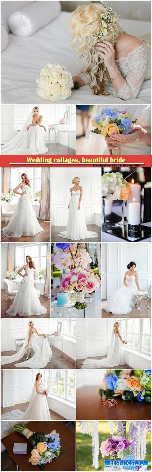 Wedding collages, beautiful bride