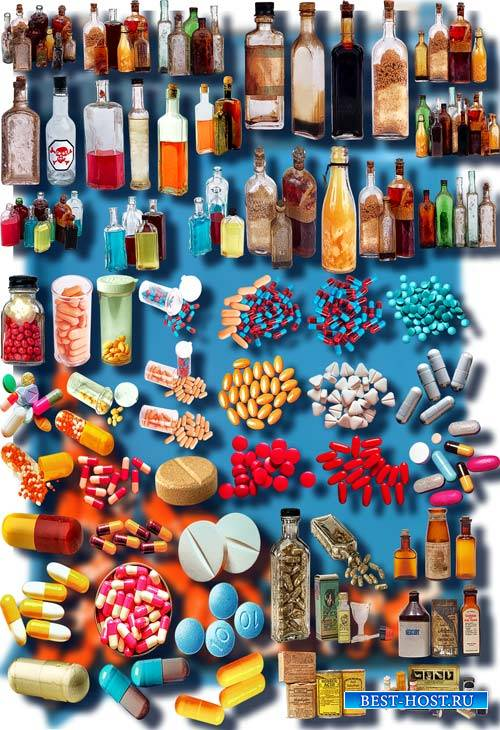 Фотошоп Png клип-арты - Лекарства