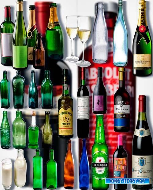 Фотошоп Png клипарты - Стеклянные бутылки