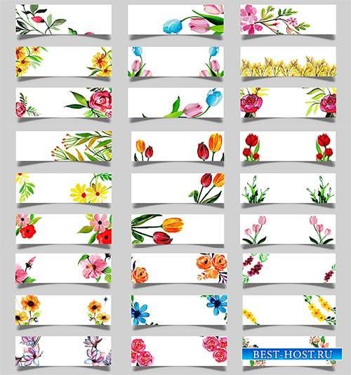 Весенние баннеры - Вектор / Spring banners - Vector
