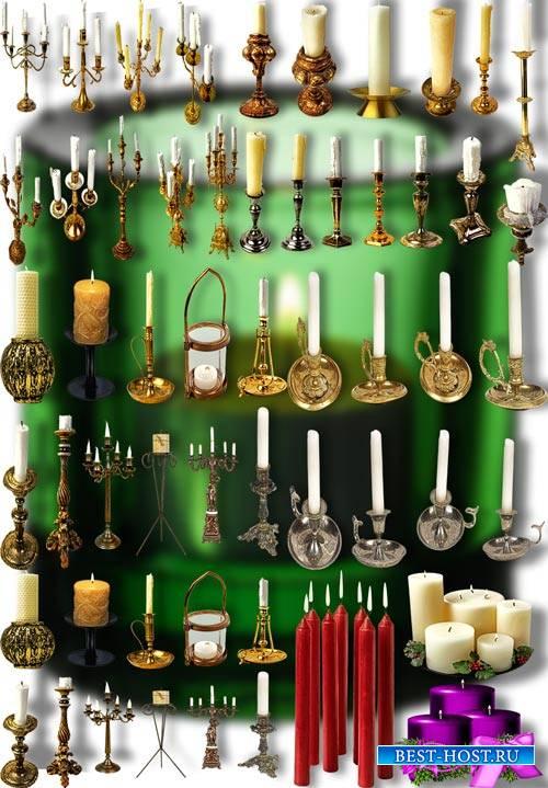 Фотошоп Png клипарты - Свечи и подсвечники