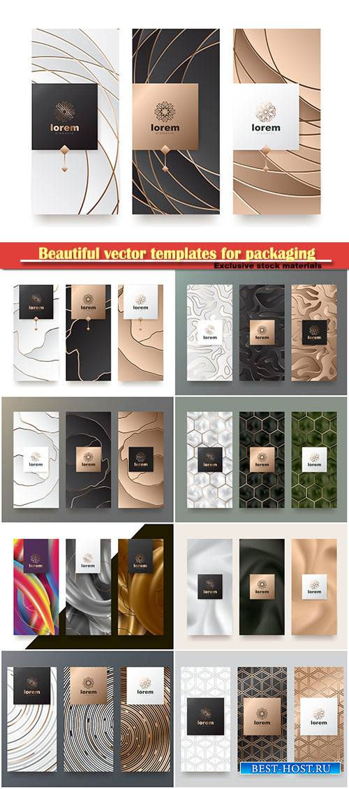 Beautiful vector templates for packaging
