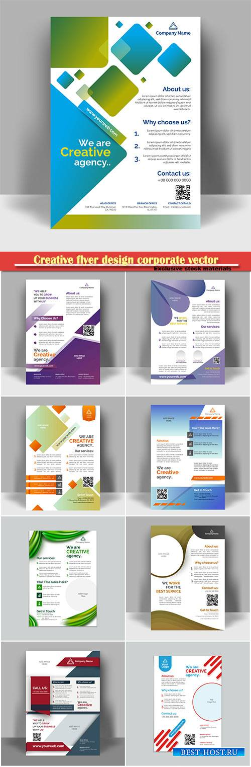 Creative flyer design corporate vector template layout presentation, busine ...