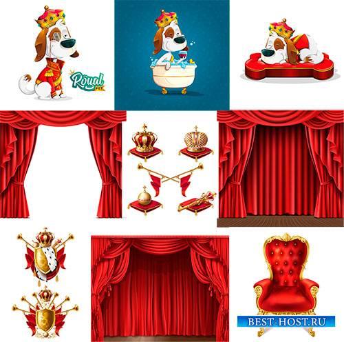 Симпатичная собака и королеские атрибуты / Cute Dog and The royal attributes