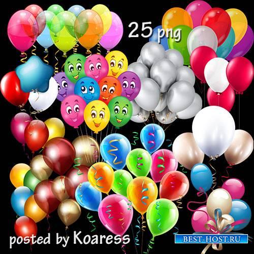 Клипарт png без фона - воздушные шарики, связки шаров -2
