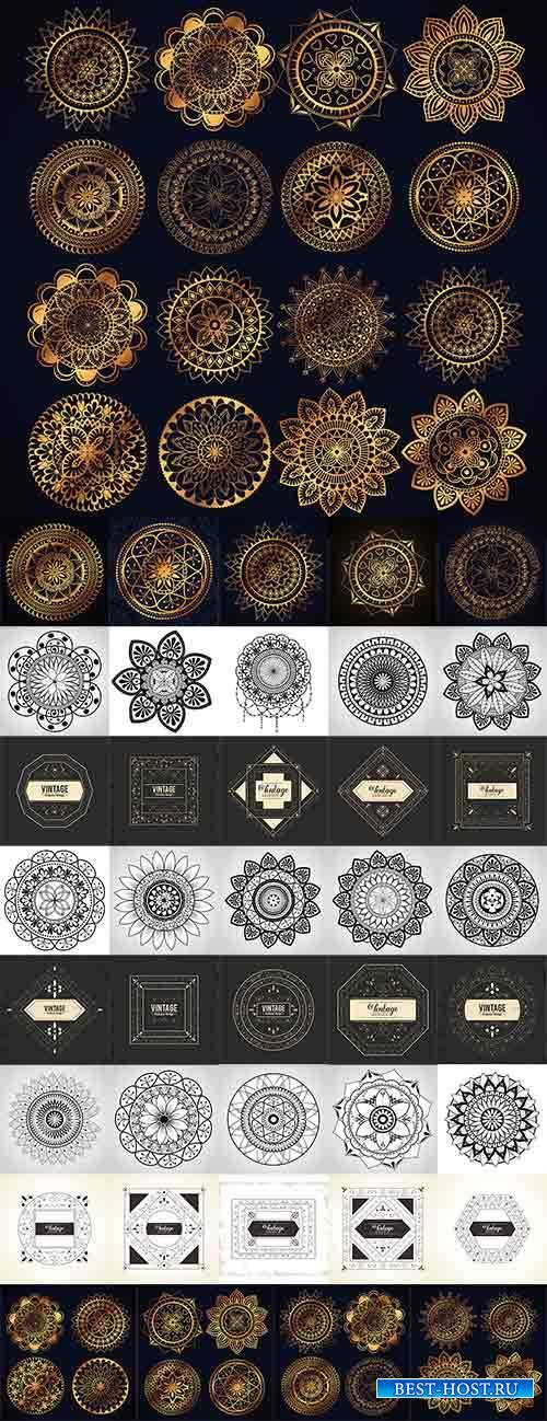 Орнаменты в векторе / Ornaments in vector