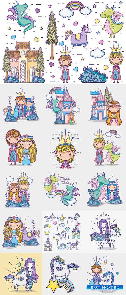 Волшебный мир маленькой принцессы - Вектор / The magical world of little princess - Vector